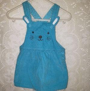 Carters blue corduroy big  dress 6 mon